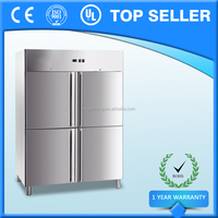 Four Section Half Size Door Commercial Upright Restaurant Fridge