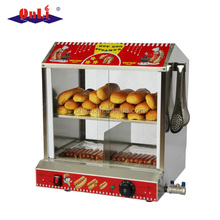 Hot dog warmer and bun steamer
