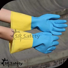 SRSAFETY rubber latex glove labour glove long sleeve