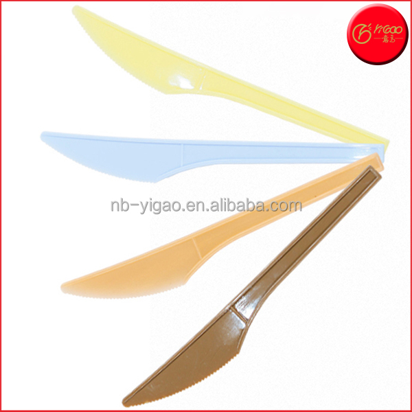 Disposable Cutlery Disposable plastic knife Colorful BPA free Dessert knife One-time Use flatware Plastic Cake knife