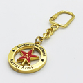 Russia Souvenir Soviet Army Emblem Gift Shiny Gold Finish Collectible Key Chains Five Star Spinning Keychain