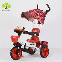 stainless steel tricycle for baby/sport toy 3 wheel tricycle baby riding /smartrike 4 in 1 sale of children tricycles with CE