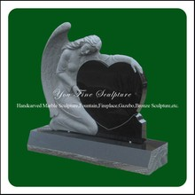 Hand Carved Western Style Angel Granite Gravestone
