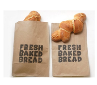 Greaseproof Biodegradable Small Kraft Paper Bag for Food