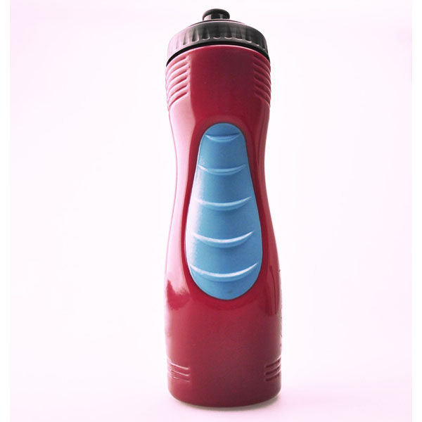 850ML high volume plastic PE sport water bottle with spout and grip holder