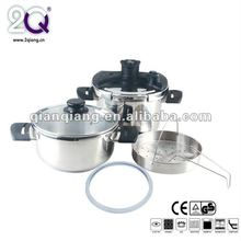 s/s double-ear handle black s/s pressure cooker