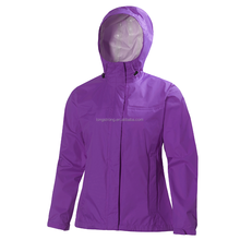 Fashion windbreaker rain jacket women