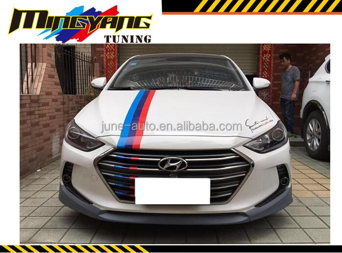 Body kit bumper lip Spoiler DRL fog lamp Diffuser bodykit for Hyundai Elantra Avante 2016 -2017