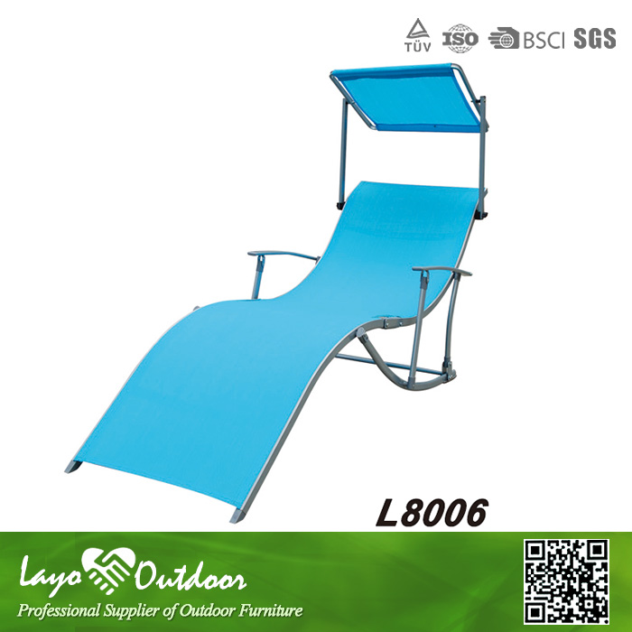 In Time Delivery Casual Seaside Lounger Aluminum Folding ...