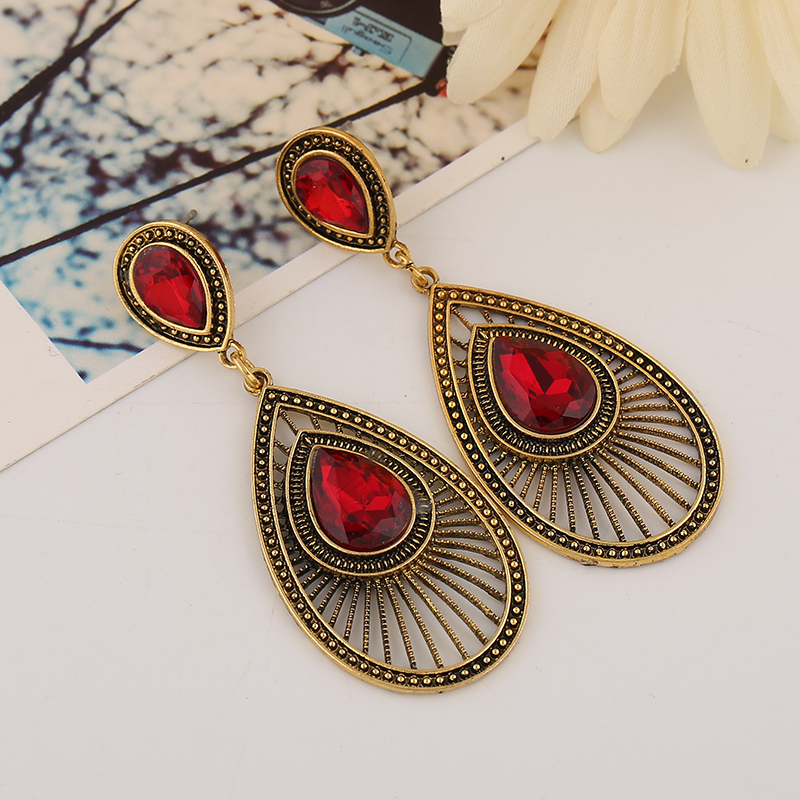 Chic sparkle feather shape Marquise earring bling earing