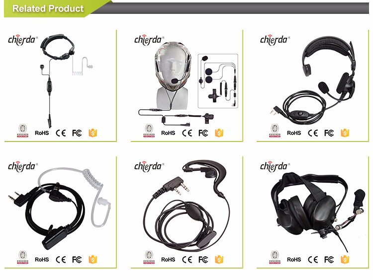 Different connector available microphone noise cancelling walkies headsets