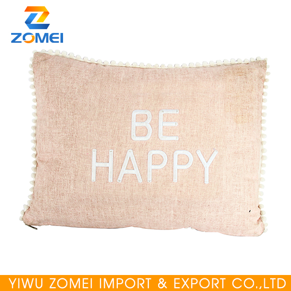 Cotton and linen zipper design rectangle pillow for body