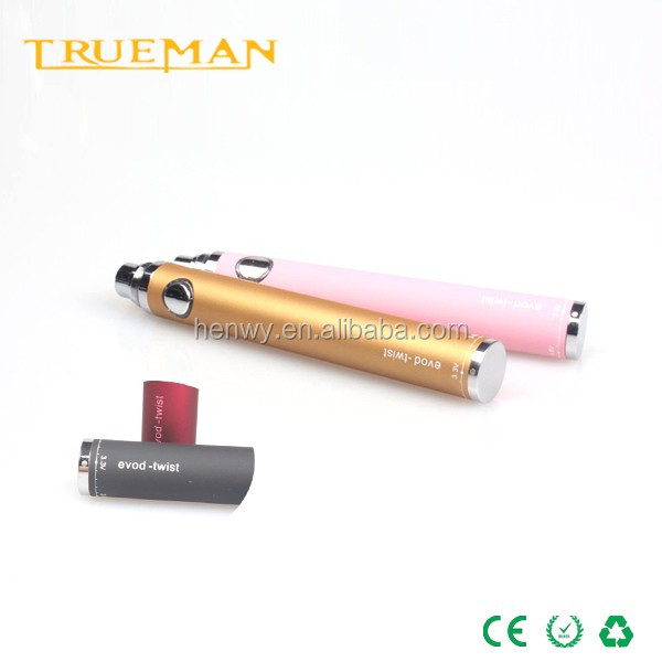 varaible voltage evod battery evod twist e cigarette battery China supplier