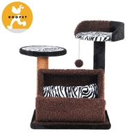 Indoor zebra-striped cat tree furniture cat product pet accessories wholesales