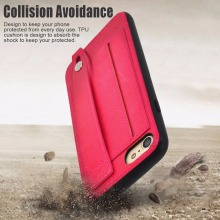 Fastener durable pc and pu case for iphone 7 phone case