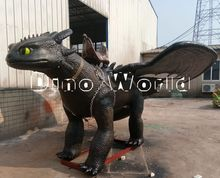 New product 2017 animatronic robot dinosaur riding for sale
