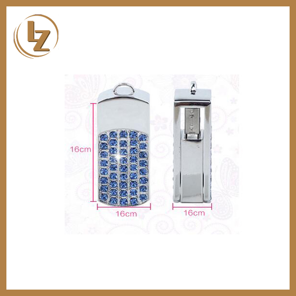 Hot Selling Jewelry Diamond USB Swivel Flash Drive for Promotional Gift