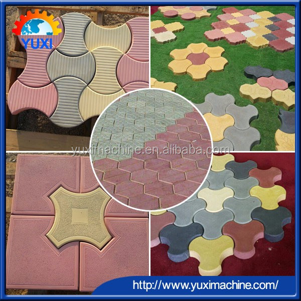 Cement Concrete automatic Hollow Block Brick/cement Interlocking Paver Concrete Color Paver Block/Cement Brick making machine