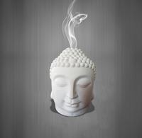 New Design Essential Ceramic aroma diffuser Buddha head Oil Diffuser Designer