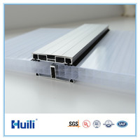 10mm Sheets Polycarbonate Multiwall Hollow Panel Roofing U-lock System 10 Years Warranty UV Resistance Coating