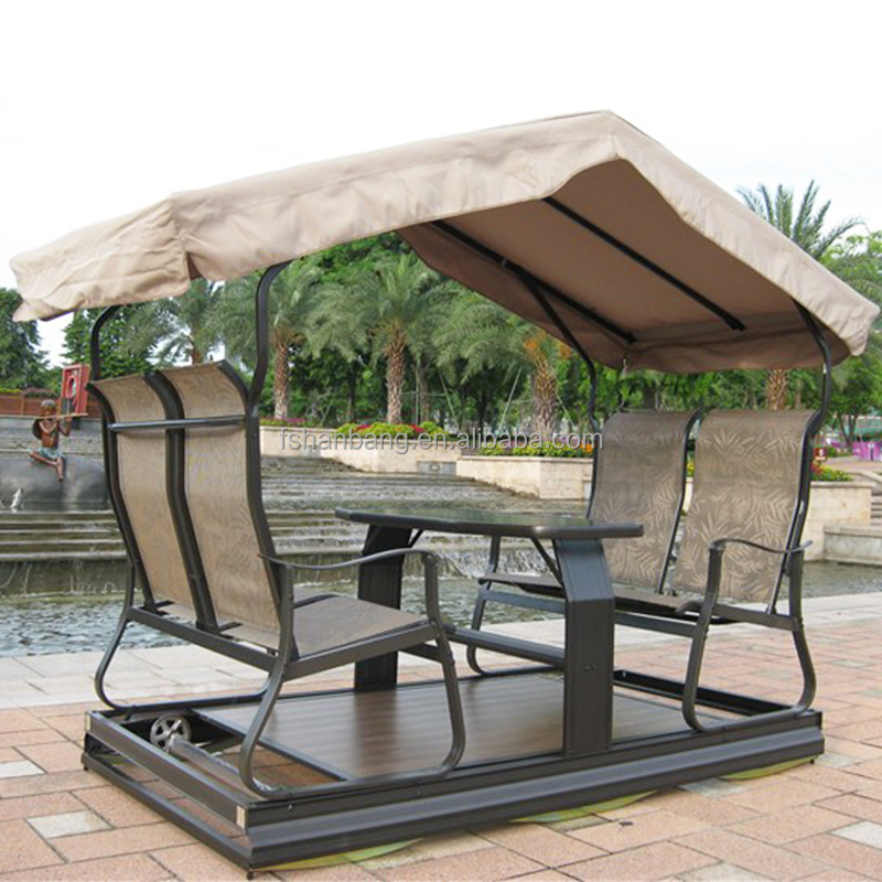 Patio Garden 4 seater swing chair