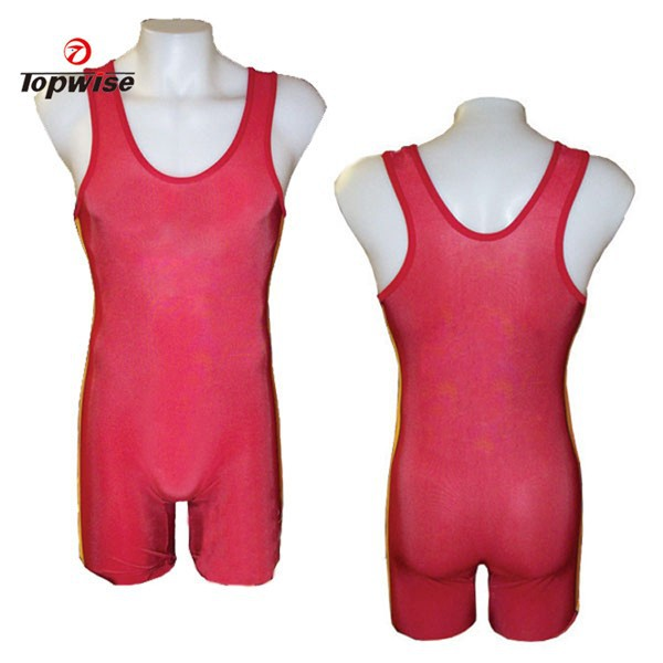 Custom Design Sublimated China Wholesale Wrestling Singlets