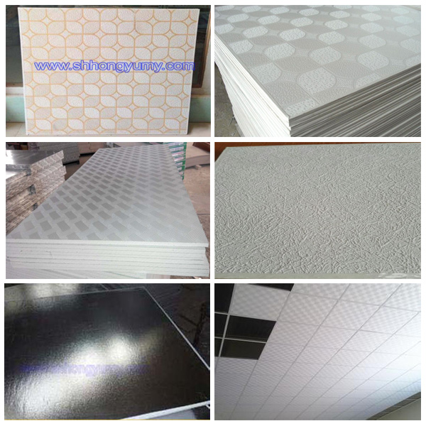 Moisture Resistant Gypsum Board Backs And Sides Front : Fire resistant pvc gypsum ceiling panels in guangzhou