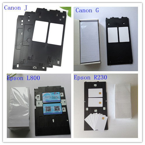 Canon J Plastic card Tray Suit for CR80 Blank inkjet double Coating card