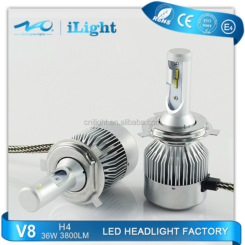 2016 NEW auto car led headlight bulb kit h4 h7 h8 h9 h10 h11 9006 9004 9007 car led headlight 3800 lumens nao car led headlight