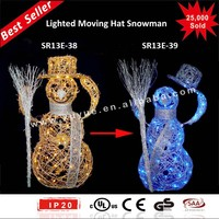 Animated Moving head light snowman with LED