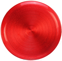 GRS Cheap Red Clear Glass Plates