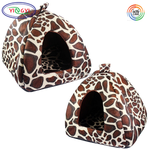 B767 Soft Plush Pet House Dog Puppy Cat Cozy Kennel Nest Mat Cushion Padded Pet House