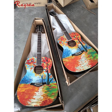 41 inch hand paint acoustic guitar spruce unique guitar for sale