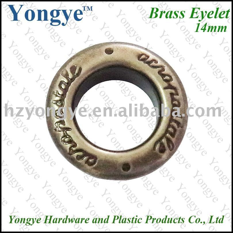 Nickel free Painting metal brass Button eyelet for garment
