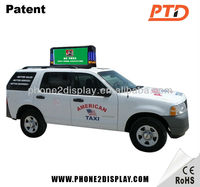taxi top led moving message sign