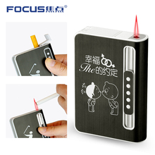 Original factory portable sublimation cigarette cases with gas lighter box