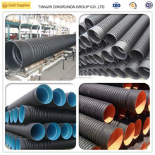 24 inch drain pipe double wall corrugated hdpe pipe