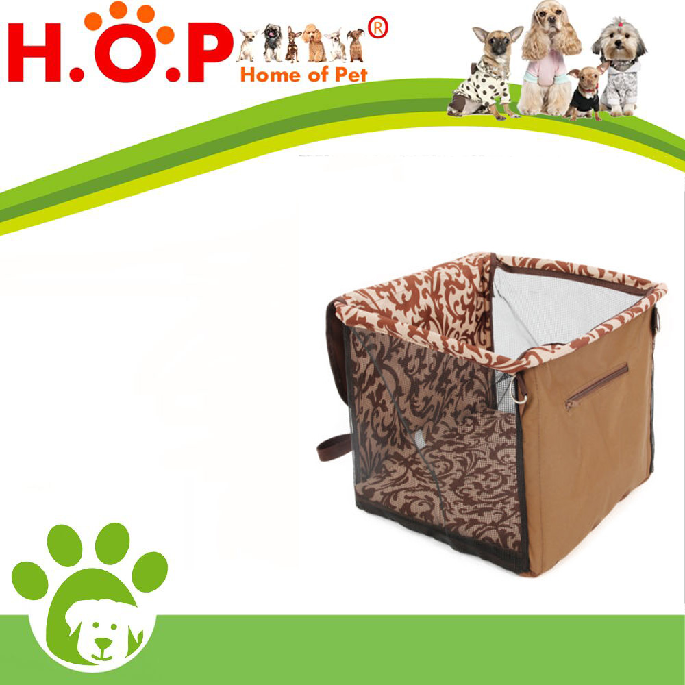 Pet Dog Car Seat Safe Belt Bag with Cushion Brown Lookout Carrier For Pet Dog