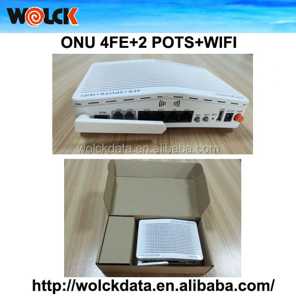2015 hot sale 4FE WIFI GEPON ONU with Internet and Telephone