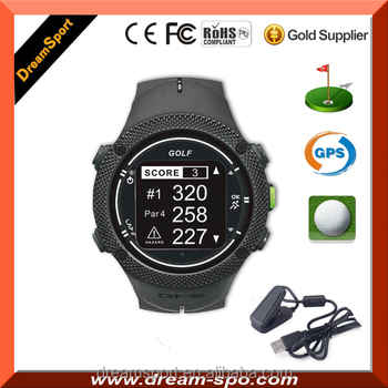 2017 Hot GPS Smart Watch Golf Navigation Watch with 30,000 World Courses,high Resolution Display, Multi-Language,Waterproof