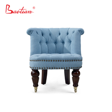 Modern living room furniture Fabric Chair with wheels