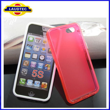 Case Mobile for Iphone5S TPU Side Shiny+ Middle Matte TPU Cover Case for Iphone5S,New Product in China Market Laudtec
