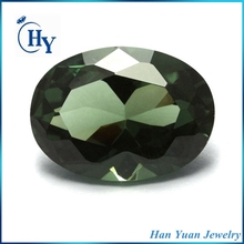 Sparking synthetic oval diamond cut 152# semi precious spinel stones