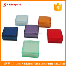 Custom logo printed colorful small clear plastic box with foam insert