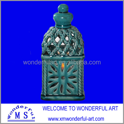 hot sale windproof ceramic outdoor candle holder