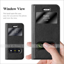Premium Flip View Window PU Leather Back Phone Case Cover For Apple iphone5