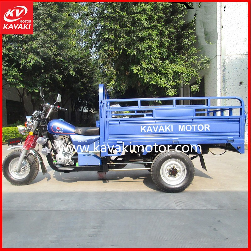 KAVAKI Motorcycles Blue 5.0-12 Tires 150cc 200cc Gasoline Three Wheel Motor Tricycle For Asia