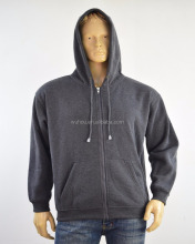 Custom Men Plain Polyester Zipper closure String Hoodies