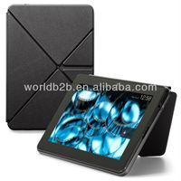 2013 Multi-folders Leather Case for New Amazon Kindle Fire HDX 7 inch