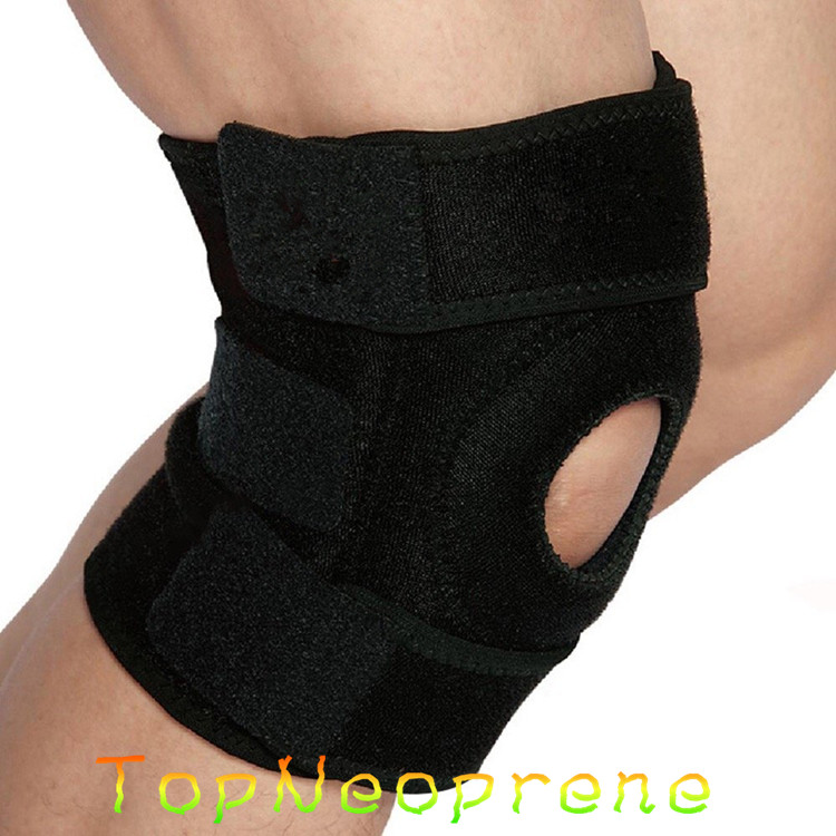 Compression adjustable neoprene knee suport with different size